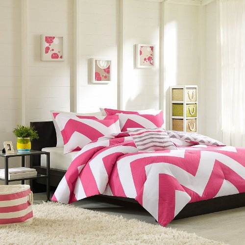 Mizone Libra Comforter Set - Pink - Full/Queen