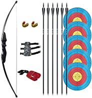 Tongtu 35LBS Archery Takedown Bow and Arrows Set for Adult Beginner Recurve Bow Longbow Kit Right Hand Outdoor