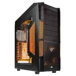 Aerocool Xpredator Evil - Caja de ordenador de sobremesa (3 x USB 2.0, 1 x USB 3.0, ATX), negro y naranja