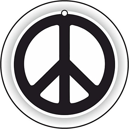 PEACE LOGO CAR AIR FRESHENER (Logo Hanging Stocking)