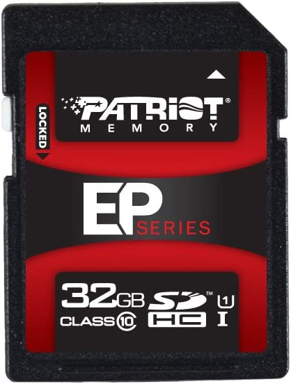 PEF128GSXC10233 Patriot EP Series 128GB UHS-1 SDXC Memory Card With Read Up To 50MB//sec