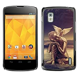 Impact Case Cover with Art Pattern Designs FOR LG Nexus 4 E960 Peace of mind Buddha Dove Betty shop