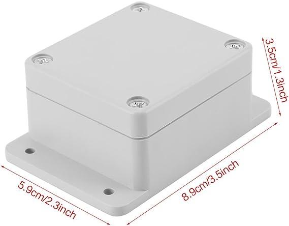 Caja de Conexiones Resistente Al Agua Caja de Ip65 Abs Proyecto Eléctrico Universal Caja de Instrumentos Montaje Fijo(89 * 59 * 35mm): Amazon.es: Bricolaje y herramientas