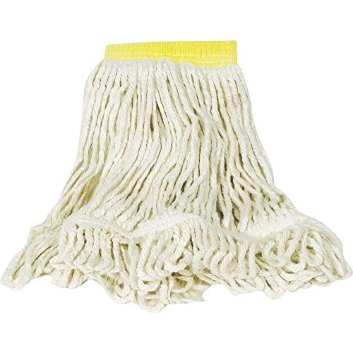 (Rubbermaid Commercial Super Stitch Blend Mop, Small, 5-Inch Yellow Headband, White (FGD25106WH00))
