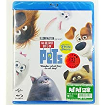 The Secret Life of Pets (Region Free Blu-Ray) (English Language, Cantonese & Mandarin Dubbed 粵語國語配音. Hong Kong Version) PET PET 當家