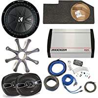 Kicker Dodge Ram Quad/Crew 02-15 - 12 CompR in box W/ protective Grille, KX400.4 amp, pair of KS 6x9s and wiring kit