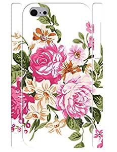 3D Print Beautiful Hipster Pink Rose Rugged Phone Dust Proof Case for Iphone 5C