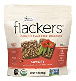 Doctor In The Kitchen, Flackers Organic Flax Seed Crackers, Savory Flaxseed, 5-Ounce