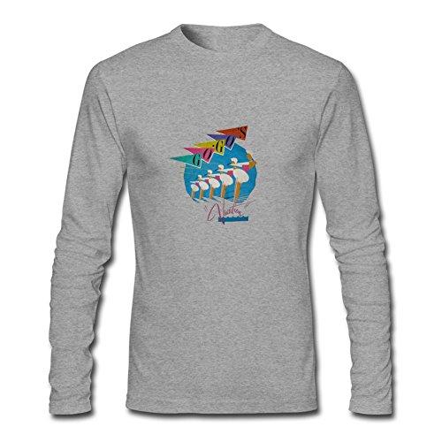 FUSHUO Men's The Go-Gos Long Sleeve T-shirt