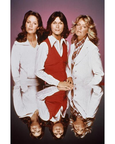 - Charlie's Angels 11x14 Promotional Photograph Kate Jackson as Sabrina Duncan and Jaclyn Smith as Kelly Garrett mirror table shot