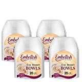 Embellish Hard Plastic 6 Ounce Clear Bowls 20 Count Pack Of 4