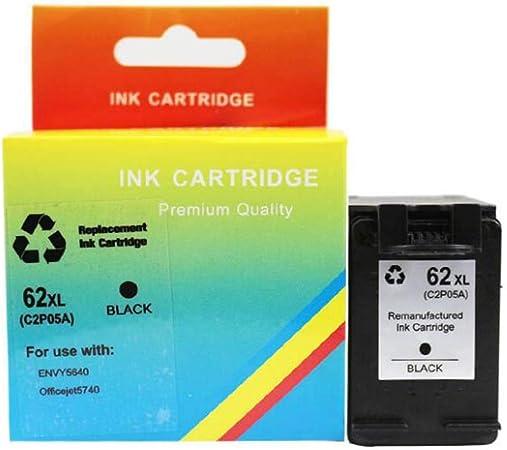 WSHZ Compatible con Cartucho de tóner de la Impresora HP62 para HP 62XL Cartucho de Tinta Officeje200 258 5540 5542 5640 HP7640 Cartucho de Tinta,Negro: Amazon.es: Hogar