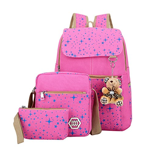 Personalized Book Bags For Girls - Fanci Teenager Girls Backpack Canvas Rucksack