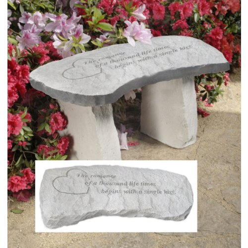 Design Toscano A Single Kiss Cast Stone Memorial Garden B...