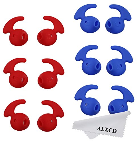 ALXCD Anti Slip Silicone Replacement Red 6Pair product image