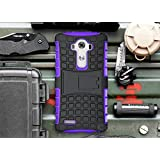 LG G3 Case, Cocomii Grenade Armor NEW [Heavy Duty] Premium Tactical Grip Kickstand Shockproof Hard Bumper Shell [Military Defender] Full Body Dual Layer Rugged Cover (Purple)
