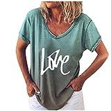 Dosoop Vintage T Shirts for Women Plus Size Short