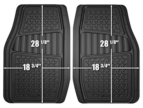 Custom-Accessories-Armor-All-78830-2-Piece-Black-All-Season-TruckSUV-Rubber-Floor-Mat