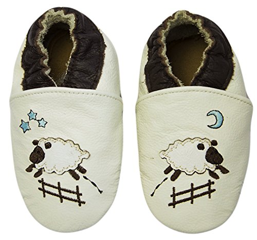 Rose & ChocolatRCC Goodnight Sheep - pantuflas de aprendizaje Bebé-Niños Beige (cream)