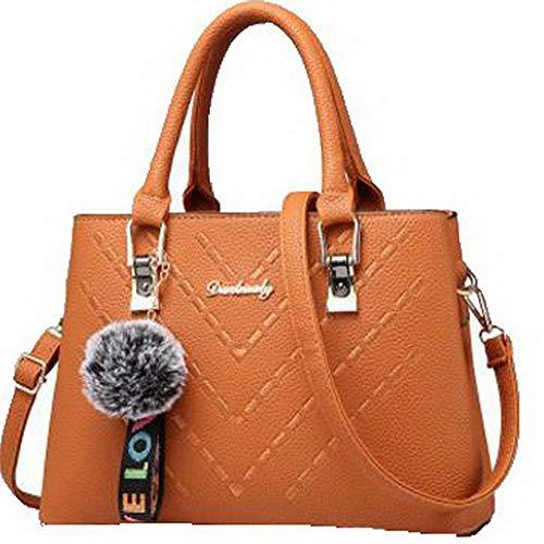 a tracolla FBUIBC181776 Dacron Borse cerniere Marrone Donna scuro Moda AllhqFashion Shopping Viola ncwYp7qcB