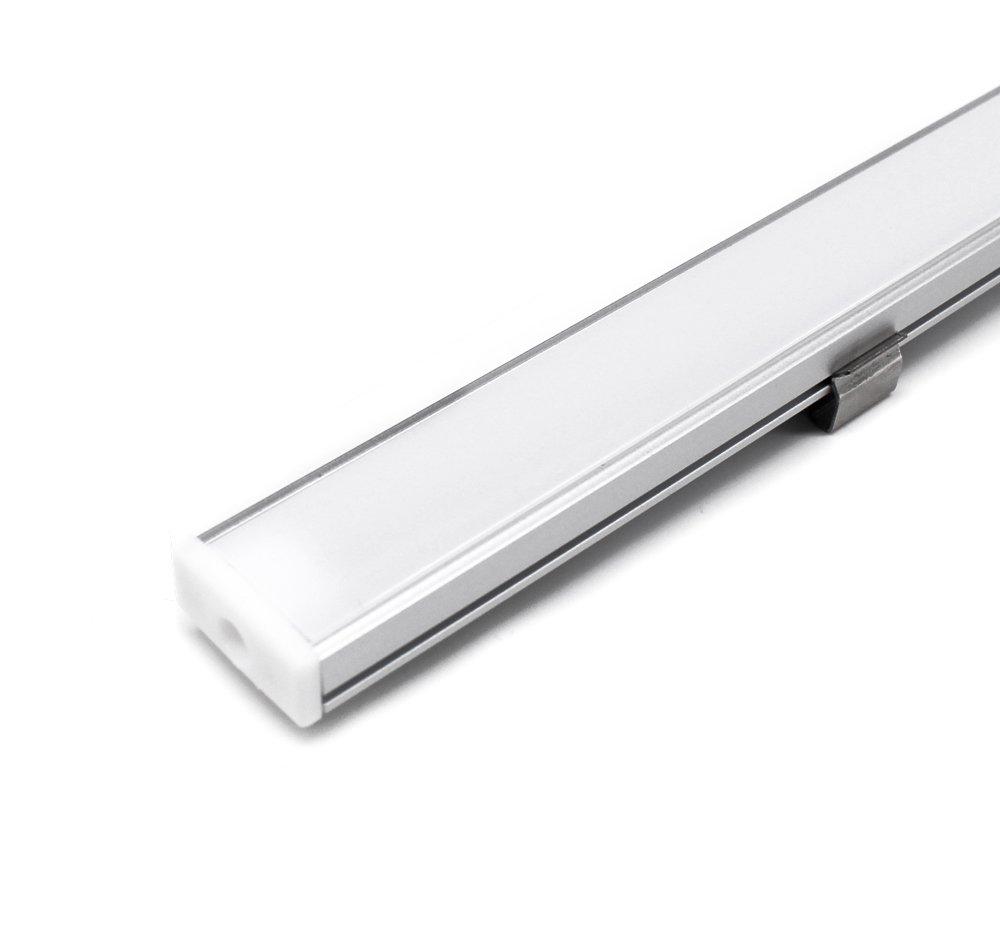 Jirvyuk Accessoires pour Profil/és en Aluminium Embouts et Clips de Montage en M/étal U