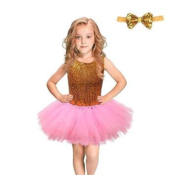 836fccd92 Vestidos de fiesta para niños pequeños Niñas sin mangas con lentejuelas  vestido de princesa vestido de