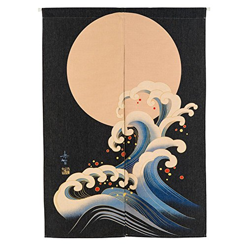 MR FANTASY Japanese Noren Doorway Curtain Tapestry Hokusa...
