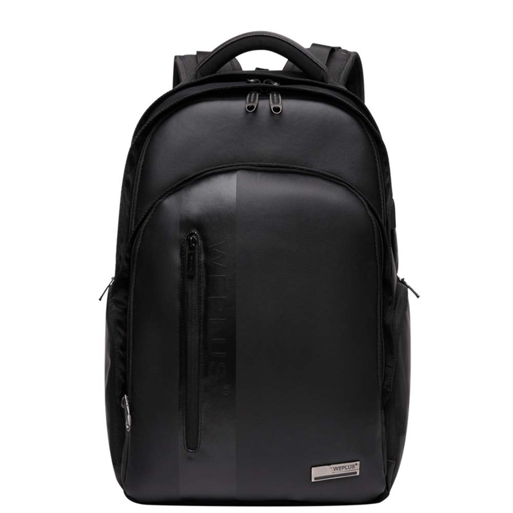 Black AUNLPB Business Travel Anti Theft Slim Durable Laptops Backpack with USB Charging Port for Women, Men, Outdoor Camping, Fits to 15.6 inch Notebook
