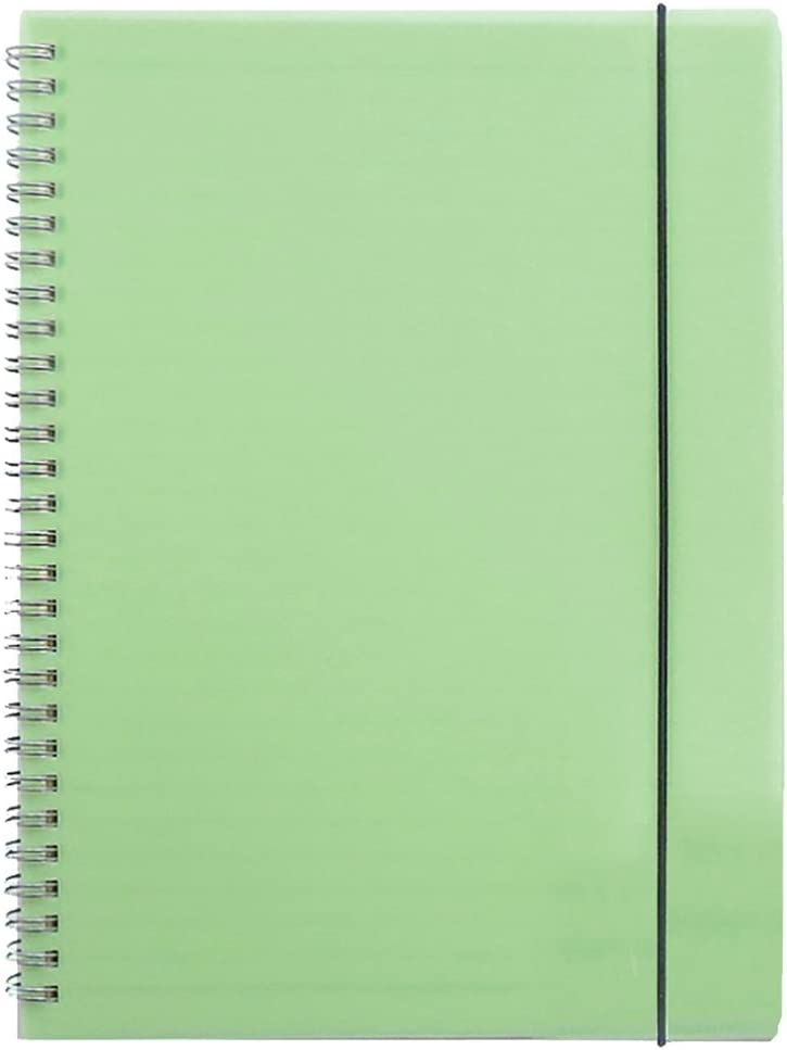 Zengest Wirebound Spiral Notebook Hardcover Dot Grid Notebook A5 Size 8.4 x 5.8 Inches 160 Pages, Green