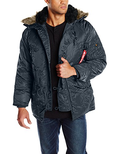 Alpha Industries Men's N-3B Parka Jacket, Replica Blue, Small by Alpha Industries
