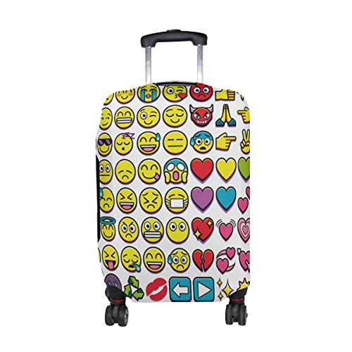 Cooper girl Cute Emoji Travel Luggage Cover Suitcase Protector Fits 23-26 Inch