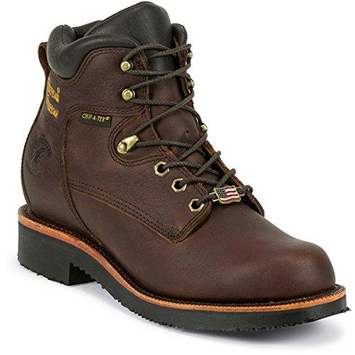 Chippewa Men's 6 Inch Lace Up Boot Waterproof,Brown,12 D US (Chippewa Waterproof Boots)