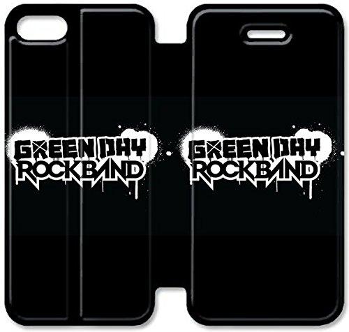 Flip étui en cuir PU Stand pour Coque iPhone 5 5S, 5 cas de téléphone cellulaire 5S Bricolage Green Day Rb Logo Leather Coque Case Y5Y4HB Coque iPhone Pour Garçons personnalisé