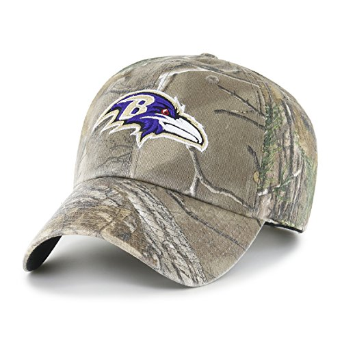 (NFL Baltimore Ravens Realtree OTS Challenger Adjustable Hat, Realtree Camo, One)