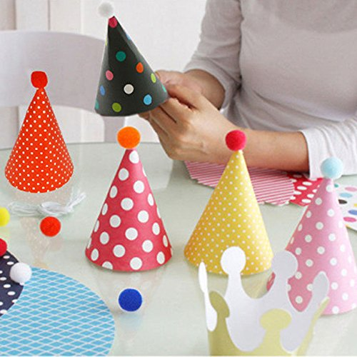 CC 11pcs/set Kids Party Celebration Hats Cute Birthday Festive Party Decoration (Blue's Clues Blue's Big Costume Party)