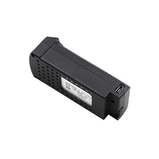 htfrgeds 1 Cable + 3 x 37V 1600mAh Batería para SG106 WiFi FPV RC ...