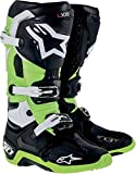 Alpinestars Tech 10 Men's MX Motorcycle Boots - Black/Green / Size 11
