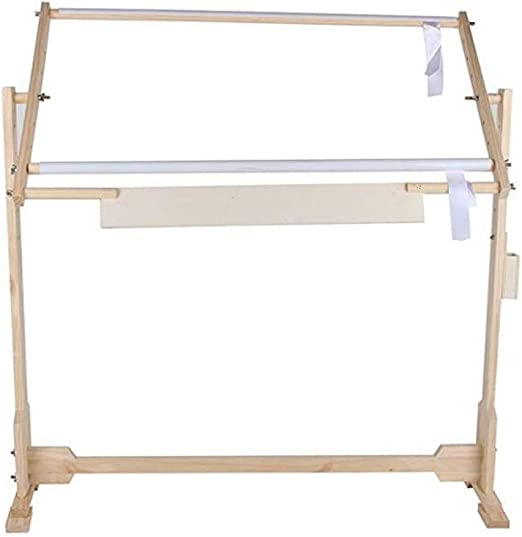 Wooden Stand Hoop For Embroidery Frame With Stand Adjustable Height And Rotation