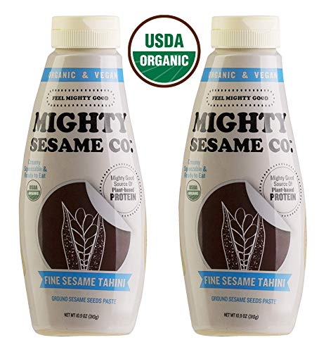 (Mighty Sesame, Organic, Fine Sesame Tahini, 10.9oz, Squeezable Bottle, Gluten Free, Ready to use! (2 Pack))