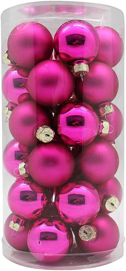 18 Stück Rosa Christbaumkugeln Weihnachtskugeln Weihnachtsbaum Deko Kugeln 6cm