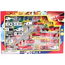 Military Combat Army Jet Aircraft Battle Airplane Air Force Truck Helicopter Tank Planes 44 Piece Mini Toy Vehicle Play Set, Street Play Mat Free Wheeling Figures Die-Cast Metal Diecast