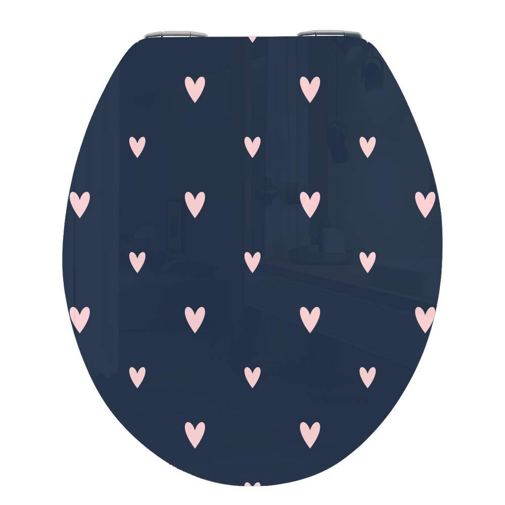 Inodoro asiento para inodoro para inodoro descenso baño WC tapa con automático strawberry