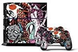 PS4 Console Designer Skin for Sony PlayStation 4 System plus Two(2) Decals for: PS4 Dualshock Controller Tsunami Review
