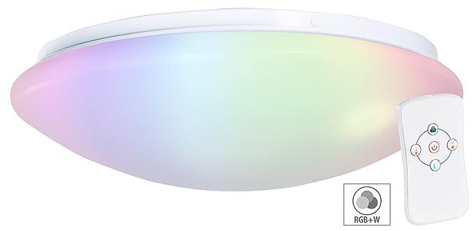 Luminea Deckenlampe: Dimmbare RGBW-LED-Wand- & Deckenleuchte ...