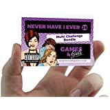Hannah's Games Never Have I Ever Card Game Hen Party Games - 20 Multi Challenge Drink If You Have Game Cards - Credit-card Sized Bachelorette Drinking Fun Hen nights Drinks - Hen Party Accessories