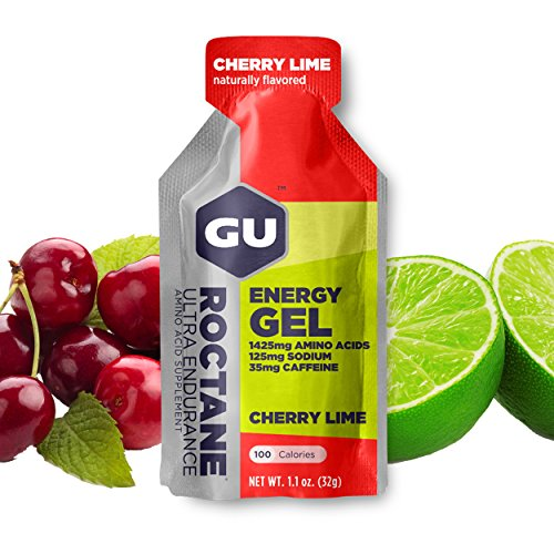 Lime Gel - GU Energy Roctane Ultra Endurance Energy Gel, Cherry Lime, 24-Count