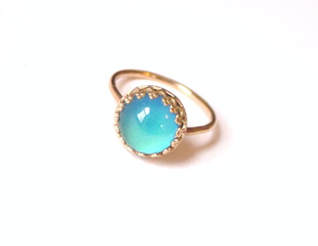 Crown Medium Mood Ring in 14kt Gold