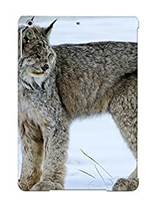 Inthebeauty Ipad Air Hybrid Tpu Case Cover Silicon Bumper Big Cats Snow Lynx Winter