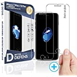 2PACK WITKEEN iPhone 8 Plus iPhone 7 Plus Screen Protector with Wider Speaker Cutout - Ballistic Ultra Clear Tempered Glass for Apple iPhone 8 Plus iPhone 7 Plus - Case Compatible