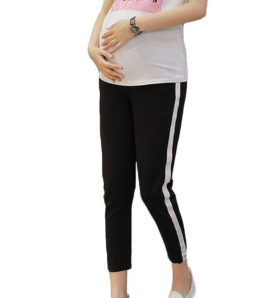 Nuovi pantaloni da donna incinta primavera estate, pantaloni casual di moda comoda con tasche